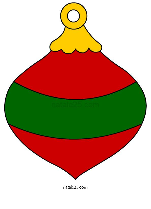Pallina Di Natale Da Ritagliare Natale 25