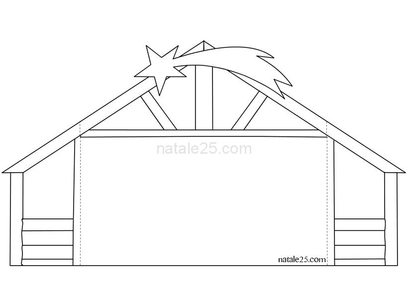 Presepe di carta da scaricare e costruire capanna for Grandi capanne di tronchi