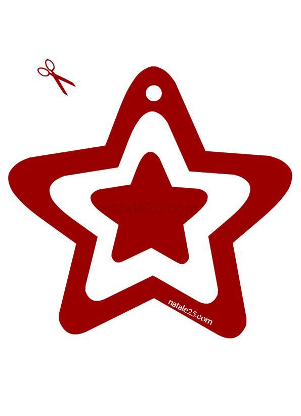 Stella rossa per addobbi Natale