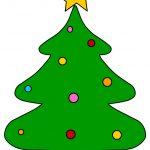 Albero di Natale con decorazioni colorate