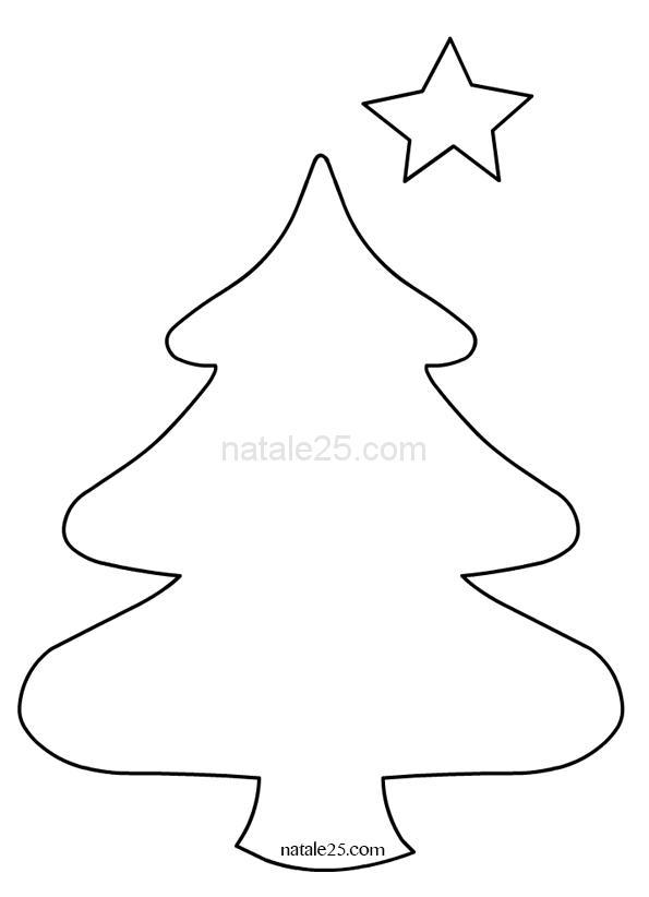 Sagoma albero Natale per decorazioni in feltro