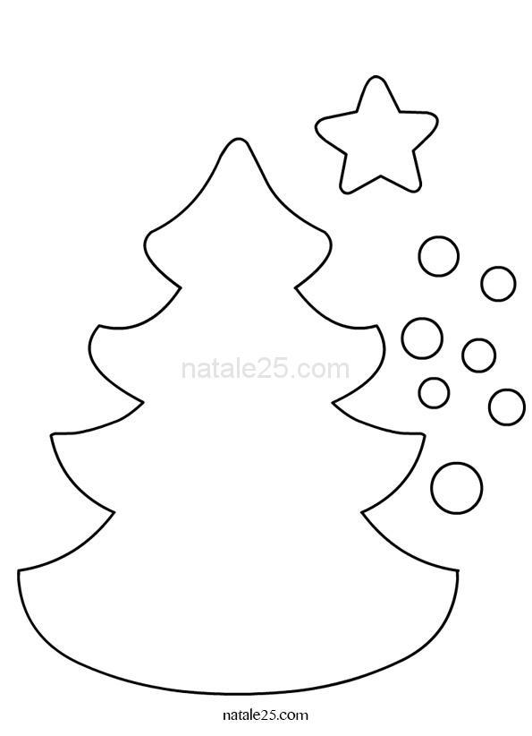 Sagome Per Lavoretti Di Natale.Sagoma Albero Di Natale Con Ornamenti Natale 25