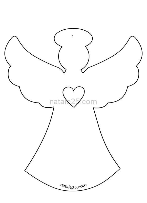Sagome angelo di carta da appendere