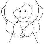 Angelo sorridente in bianco e nero