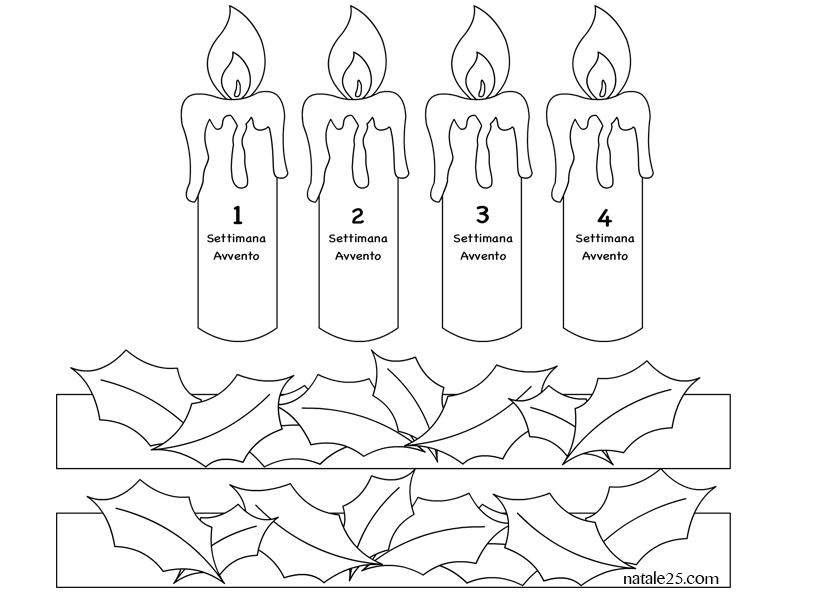 corona avvento candele