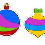Palline a colori per albero di Natale