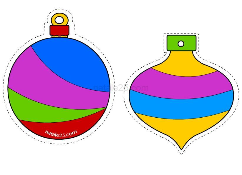 Palline Di Natale Da Ritagliare Natale 25
