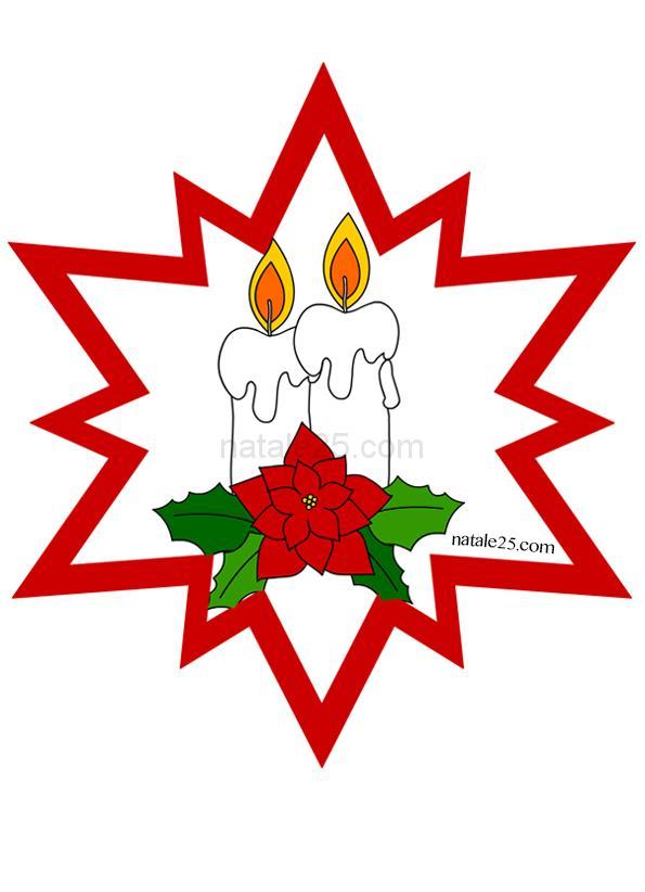 Stella di Natale con candele da appendere