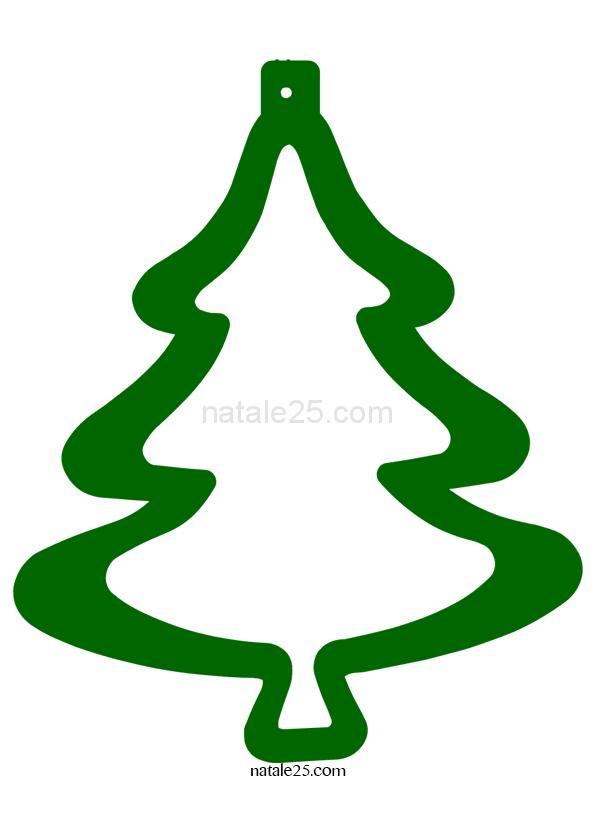 Decorazione natalizia da ritagliare
