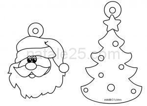 Natale 25 letterine biglietti lavoretti disegni per le feste natalizie - Addobbi natalizi per le finestre ...