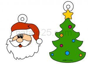 Natale 25 letterine biglietti lavoretti disegni per - Decorazioni natalizie da ritagliare ...