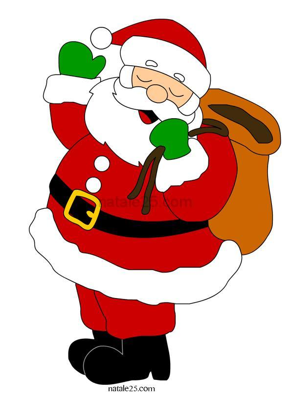 Babbo Natale con sacco doni