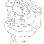 Babbo Natale con sacco doni da colorare