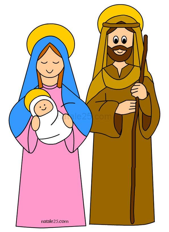 Gesù Giuseppe e Maria Clipart