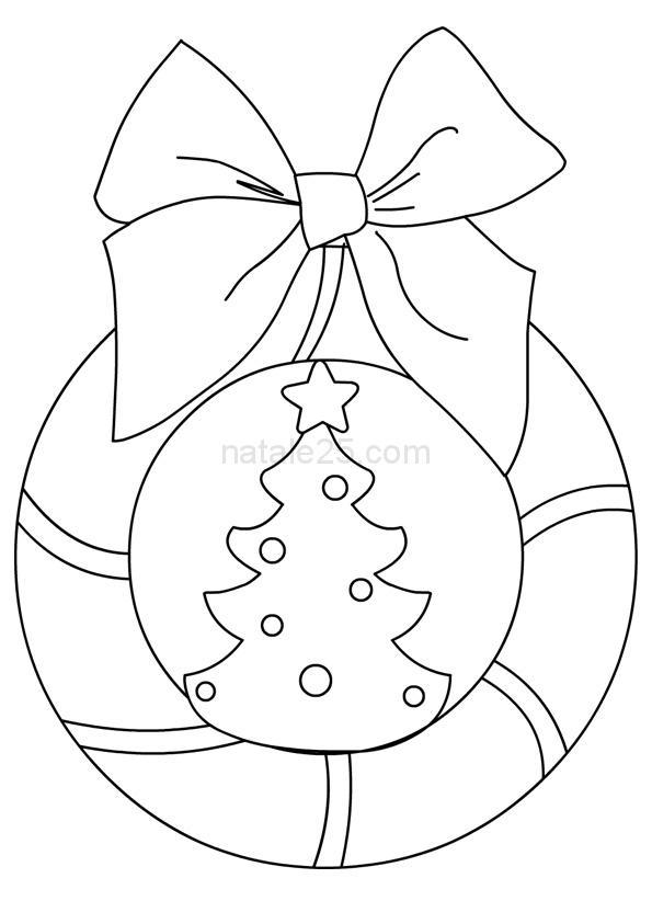 Ghirlanda con albero di Natale