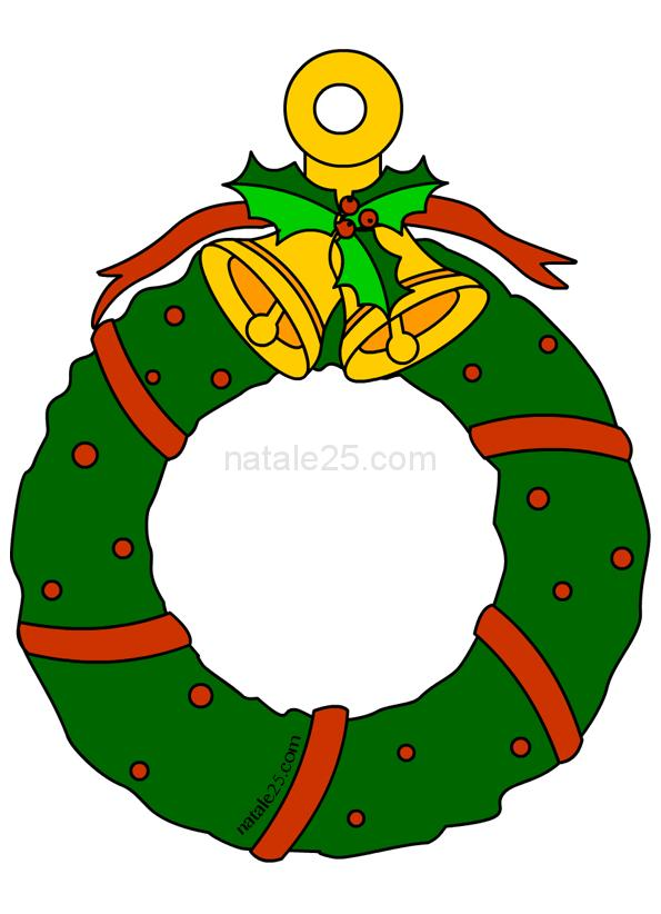 Ghirlanda di Natale di carta da appendere