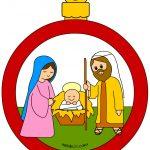 Pallina di Natale con Natività per addobbi
