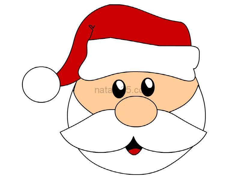 Babbo Natale di carta da ritagliare