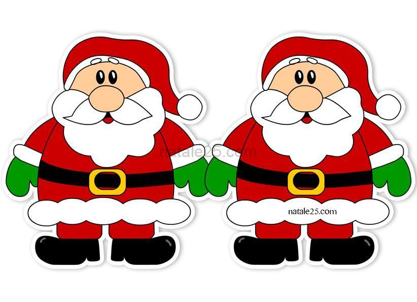 Festone con babbo natale per addobbi natalizi natale 25 for Addobbi aula natale