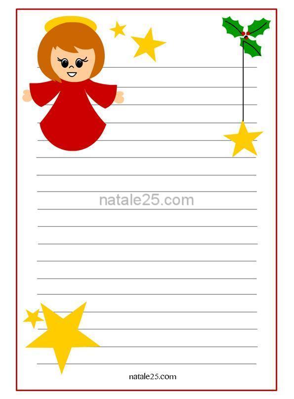 Letterina di natale per bambini con angelo