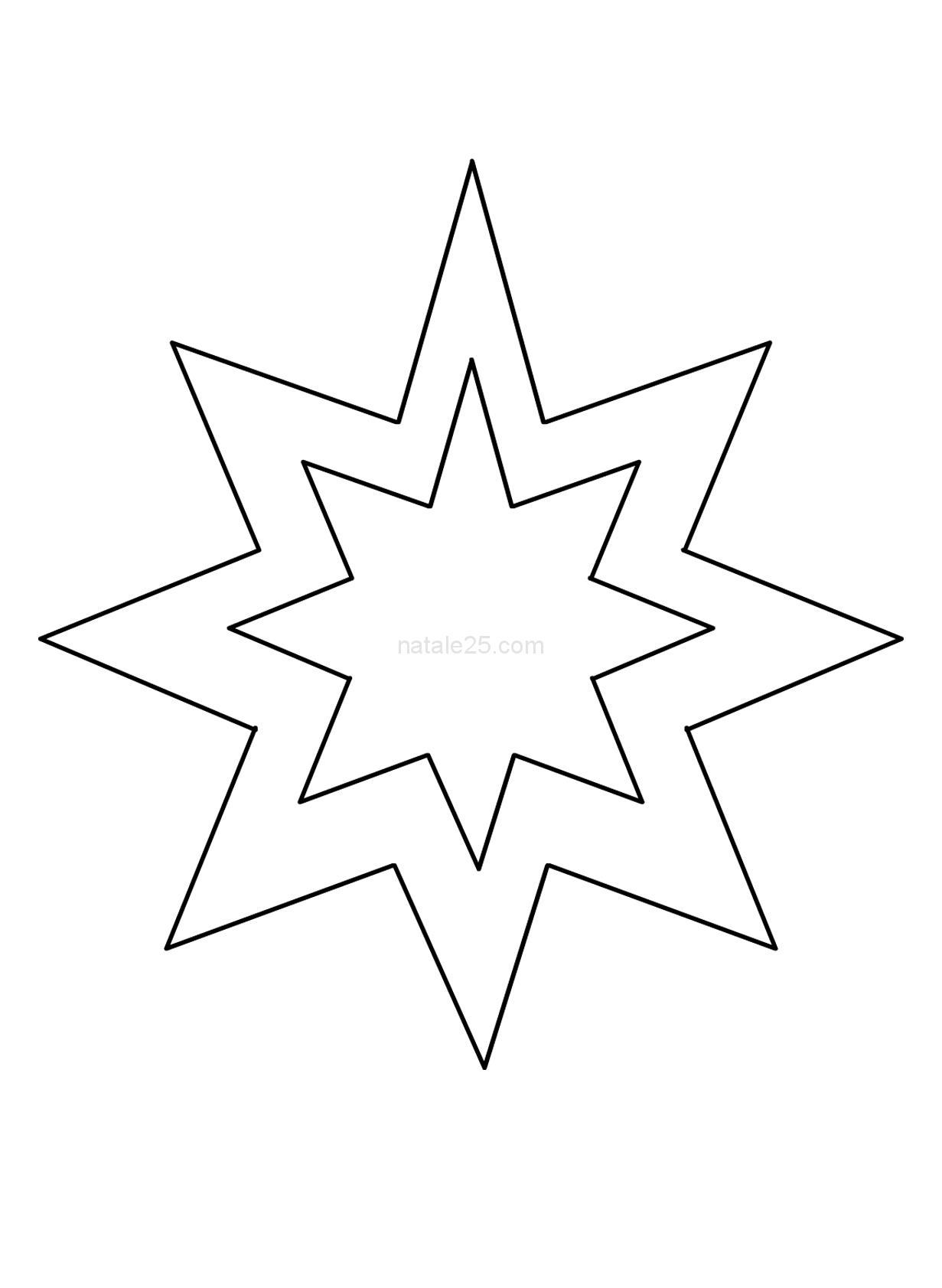 Sagoma stella 8 punte per addobbi