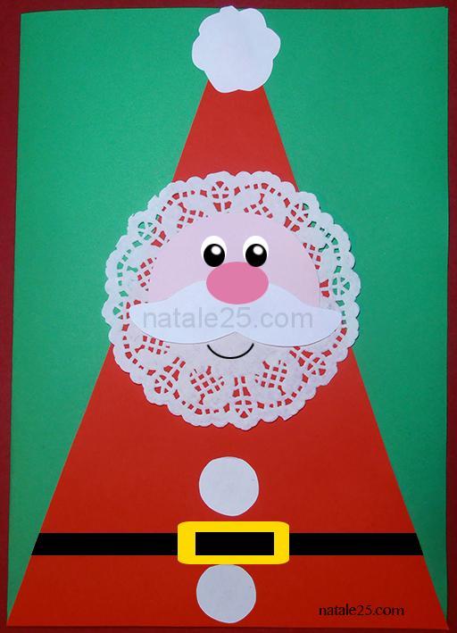 Biglietto di natale con babbo natale natale 25 - Addobbi natalizi per finestre scuola infanzia ...