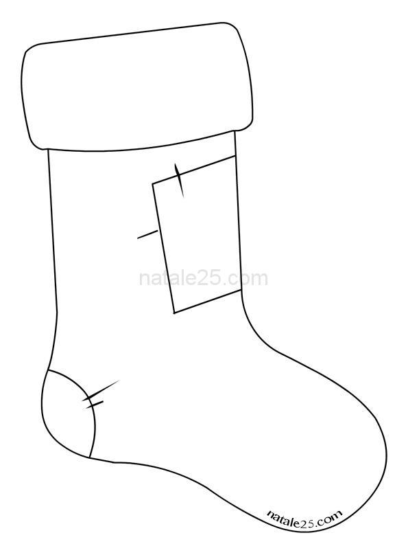 Calza della Befana disegno per bambini