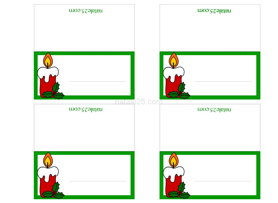 Segnaposti di Natale con candela