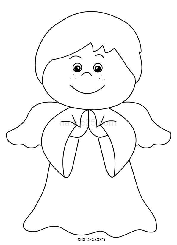 Piccolo angelo che prega da colorare natale 25 - Angelo da colorare fogli da colorare ...
