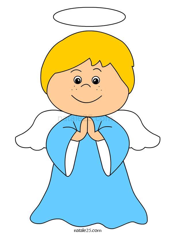 Angioletto che prega immagine a colori natale 25 for Angeli da stampare e colorare