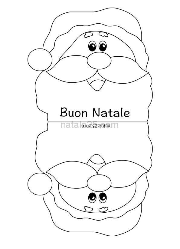 Immagini Di Babbo Natale In Bianco E Nero.Biglietto Con Babbo Natale In Bianco E Nero Natale 25