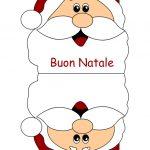 Biglietto natalizio con Babbo Natale