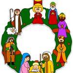 Addobbi di Natale Ghirlanda di Natale con Natività