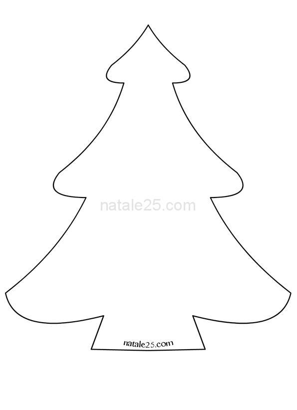 Modello albero Natale per lavoretti in feltro
