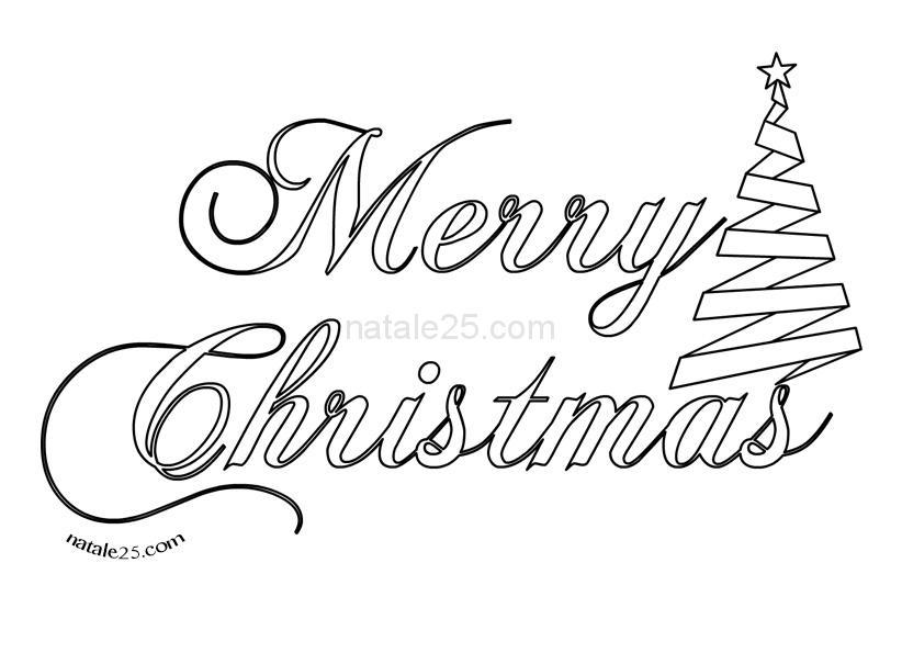 Favorito Scritta Merry Christmas da colorare - Natale25.com - Letterine  VV36
