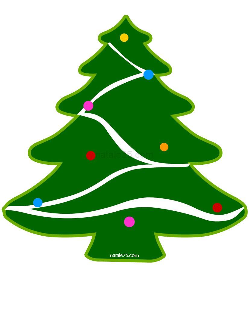 Albero Di Natale Da Ritagliare Per Addobbi Finestre Natale 25
