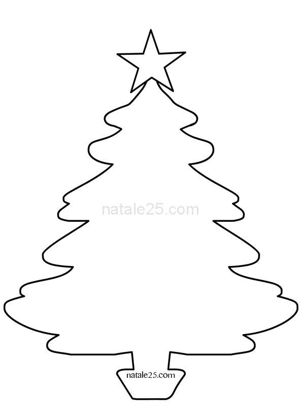Stella Di Natale Cartamodello.Modello Albero Di Natale Con Stella Natale 25