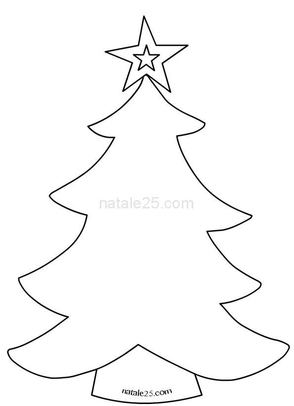 Stella Di Natale Cartamodello.Cartamodello Albero Di Natale Con Stella Natale 25