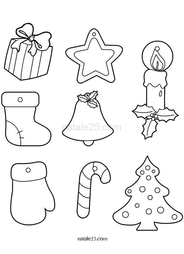 Decorazioni Di Natale Disegni.Decorazioni Albero Di Natale Da Colorare Natale 25