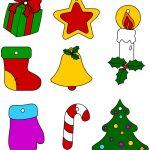 Immagini di Natale a colori da ritagliare