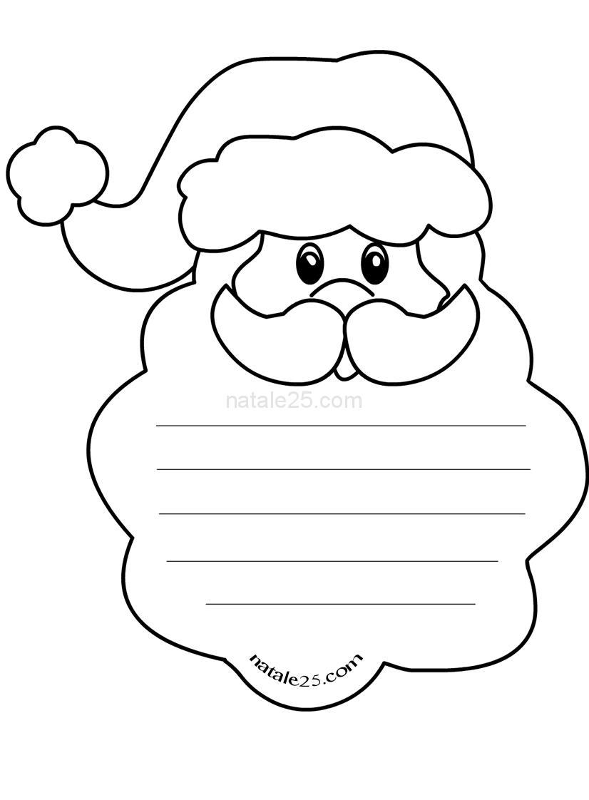 Immagini Da Colorare Di Natale.Letterine Di Natale Per Bambini Da Colorare Natale 25
