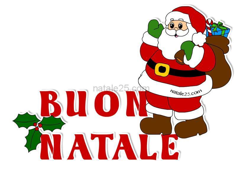 Immagini Con Scritte Di Buon Natale.Auguri Di Buon Natale Immagine A Colori Natale 25