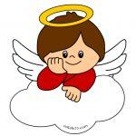 Piccolo angelo sopra una nuvola