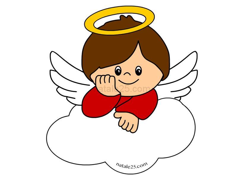 Piccolo angelo sopra una nuvola natale 25 for Angeli per bambini da colorare
