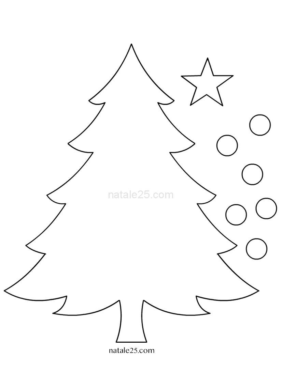 Stella Di Natale Cartamodello.Cartamodelli Natalizi Albero Di Natale Natale 25