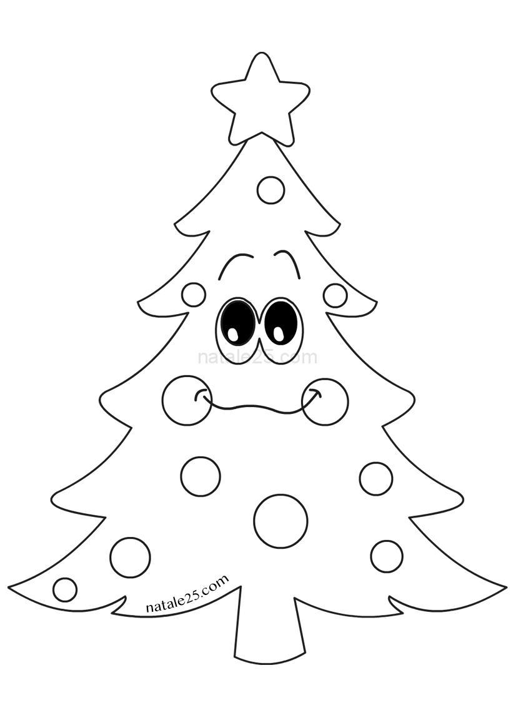 Immagini Da Colorare Di Alberi Di Natale.Albero Di Natale Mascotte Da Colorare Natale 25