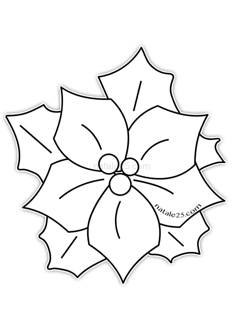 Disegno Stella Di Natale Da Colorare.Disegno Stella Di Natale Da Colorare Natale 25