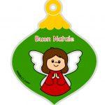 Decorazione di Natale con angelo da appendere