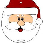 Pallina con viso di Babbo Natale Addobbi aula