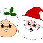 Babbo Natale e la moglie da stampare